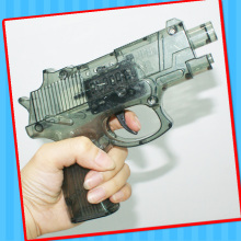 Plastic Flint Sparking Pistol Gun Toy with Candy