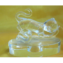 High Quality Transparent Crystal Animals Monkey for Souvenir