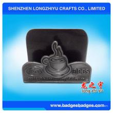 Sostenedor promocional de la tarjeta de visita del tenedor comercial de la empresa Tenedor caliente formado de la tarjeta de visita de la venta en forma de metal metálico