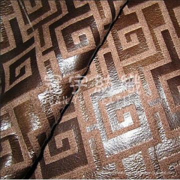 Tecido composto de camurça bronzeada para tecido de sofá