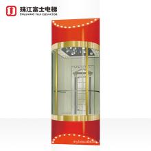 Fuji Brand Glass Mirror Sightseeing Elevator Shopping Malls Panoramic Lift Sightseeing Elevator