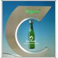 Beer bottle magnet floating display