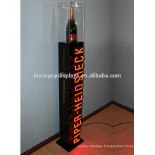 Bar Or Wine Retail Shop Rack Custom Mark Floorstanding Led Lighting Champagne Liquor Bottle Display