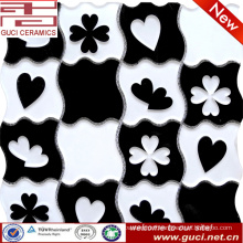 Peach heart pattern design Mosaic Glass Tiles in Acrylic
