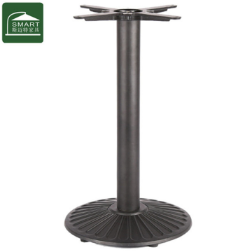Metal furniture table leg with round base