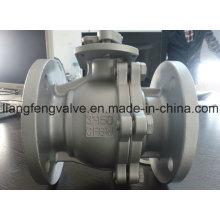 2PC фланцевый шаровой кран с нержавеющей сталью