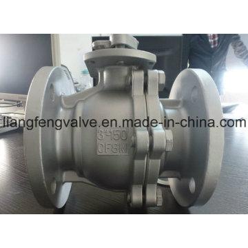 Válvula de bola de puerto completo, extremos de brida con acero inoxidable