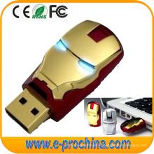Personalizar logotipo Ironman USB Flash Drive para presente promocional (ED197)