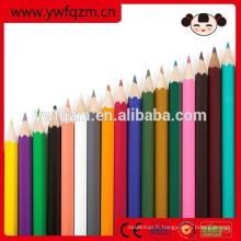 Crayon de couleur bois en vrac de haute qualité