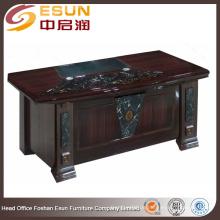 Moderne runde Rand Marmor Dekoration Desktop-Papier Malerei Executive Schreibtisch Büro Tisch Design