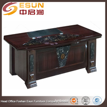 Modern round edge marble decoration desktop paper painting executive desk office table design