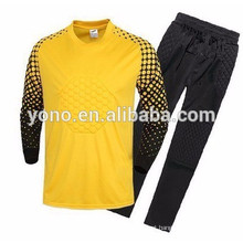 2016 mais novo design personalizado venda quente boa qualidade camisa de goleiro de futebol respirável atacado
