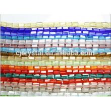 Hermosas cuentas de cristal rectángulo de vidrio