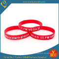 Promotional Wholesale Red Printed Silicone Wristband (LN-044)