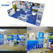 Detian Offer 10x20ft Modular blue exhibition booth for trade fair stand