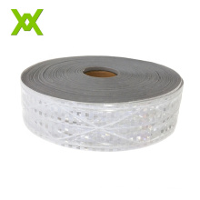 Cheap Price Micro-Prisma Warning PVC Reflective Tape 220 Microns Transparent Reflective Film For Clothing