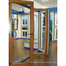 china wooden Aluminum side-hung door