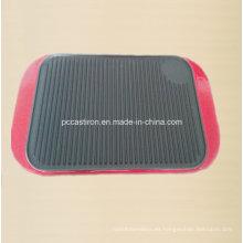 Placa de plancha de hierro fundido preestructurada con mango de esmalte