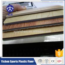 Suelo antideslizante del pvc del grano de madera de la capa transparente del PVC