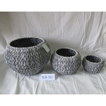 Best Price for for Offer Outdoor Flower Pots,Small Flower Pots,Seagrass Flower Pot From China Manufacturer Drum-like Water Hyacinth Flower Pot supply to France Factory
