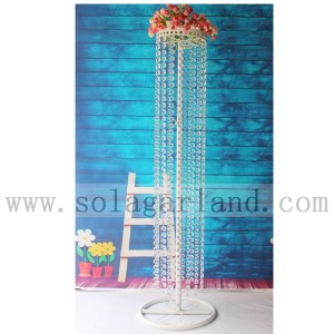 "39"" White Stand Wedding Table Chandelier Centerpiece"