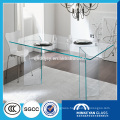 high quality 12mm thick tempered glass top rotating dining table in China