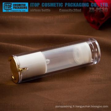 ZB-PS30 30ml spéciale recommandée principaux produits doubles couches cristal acrylique flacon airless