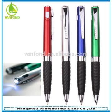 Novo estilo LED luz twist caneta com logotipo personalizado
