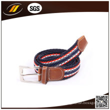 Adjustable Styles Male Machine Knitted Ployester Elastic Stretch Belt