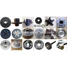 Cubo de roda, tambor de freio, freio de tambor e disco de freio família para trailer de caminhão, reboque de caixa, reboque de atv e reboque de barco