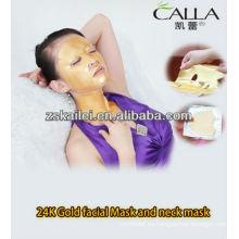 Máscara facial del polvo del oro de GMPC 24k, máscara del cuello, máscara de ojo