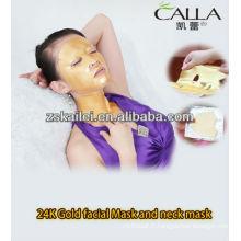 Masque facial de masque de poudre d'or de GMPC 24k, masque de cou, masque d'oeil