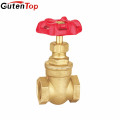 Guten top brass gate valve cast iron stem gate valve