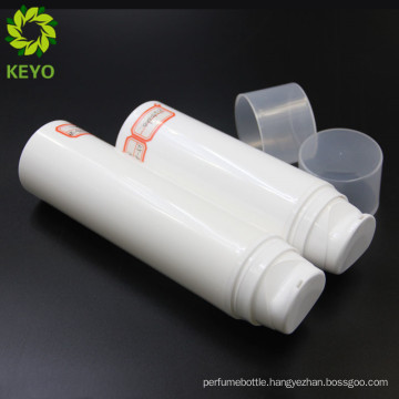 PP airless pump cosmetics bottle and 120ml white plastic pet pump bottle
