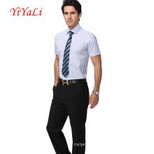 Homens Camisa Bussiness Camisa Blusa Homem Terno Camisa Manga Curta