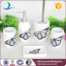 Beautiful Natural Rustic Butterfly Ceramic Spring Pattern Bath Accessory