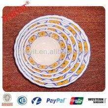 9inches Decorated ceramic porcelain fish bowl