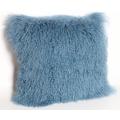 Монгольского ягненка кожа подушки крышки в синий
