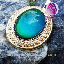 Fashion Copper magic changing color mood pendants charms tube beads findings for necklace and bracelet jewelry