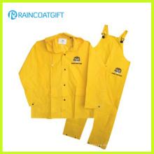 Traje de baño impermeable amarillo de los hombres del PVC / del PVC del poliéster Rpp-030A