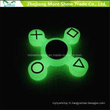 Sillicone Glow in Dark Fidget Symbole Spinner À La Main Adhd EDC Focus Anxiété Jouet