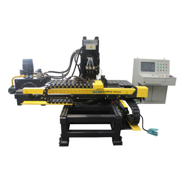 Enjin Kendaraan Bola Enhanced Pindah CNC Plate Punching Machine