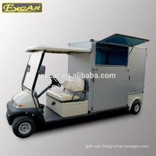 EXCAR 2 seater electric golf cart golf buggy car food utility cart