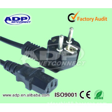 AC Power Cord European VDE Power Cord with 3 Pin Plug