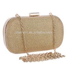 Sparkling Gold Cadeaux de soirée en soirée Sac à main en épingle Sac de mariée pour soirée nocturne Boucles d'oreilles nuptiales B00136 sacs à main