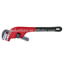 Adjustable Wrench With Offset Head Slanting Pipe Wrench