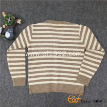 Two-color Strip Long Sleeves Cardigan Sweater for Children