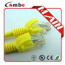 Cable de conexión UTP RJ45 cable de Ethernet 24AWG de color plano