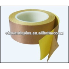Tela de fibra de vidrio recubierta de PTFE de calidad superior con un adhesivo lateral con forros de liberación