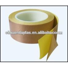 Tela de fibra de vidro revestida com PTFE de qualidade superior com um adesivo lateral com forros de liberação